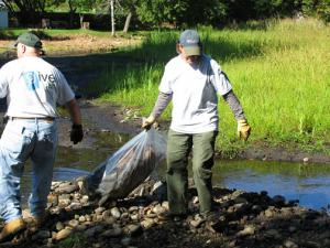 Genzyme team gets dirty at OAR clean up