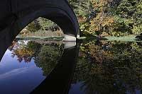 Footbridge at Wood Park in Hudson