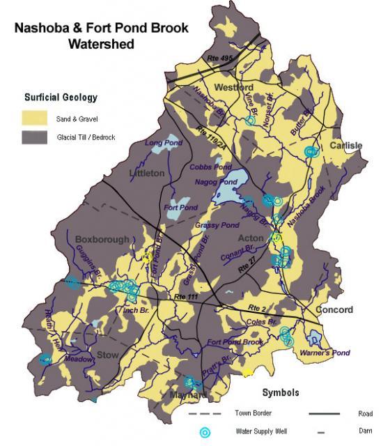 Nashoba Brook Surficial Geology